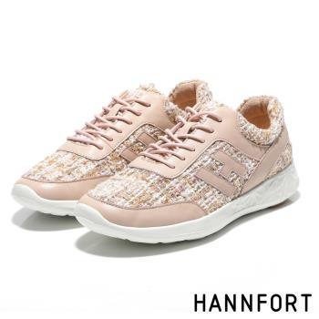 HANNFORT ICE小香風毛呢運動休閒鞋-獨