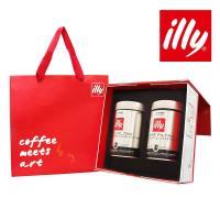 illy意利 尊榮咖啡禮盒美式深焙咖啡粉(2入)