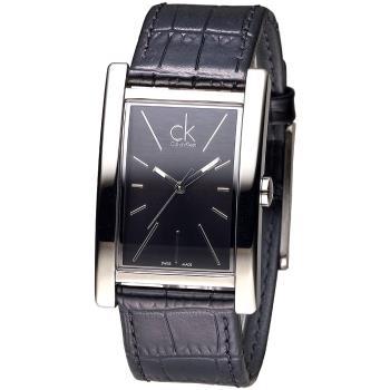 CK  方形款品味時尚玩家男錶-黑(K4P211C1)