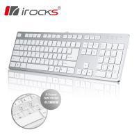 i-rocks IRK01 巧克力超薄鏡面鍵盤(銀)