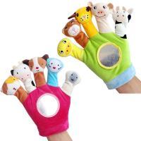 寶寶動物指偶手套玩具嬰兒手偶毛絨玩具