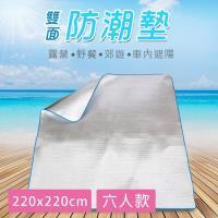 KISSDIAMOND 220X220CM 雙面防潮鋁箔野餐地墊(好收納/露營/戶外/野餐/睡墊/隔熱/居家/睡墊)