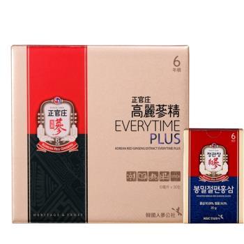 【正官庄】高麗蔘精EVERYTIME PLUS30包(送蜂蜜人蔘切片20g)