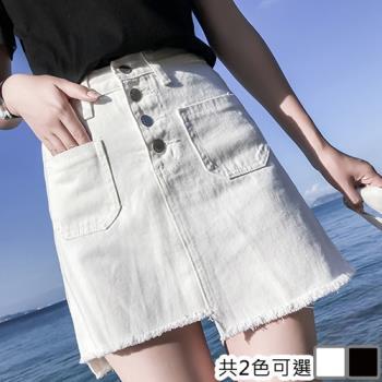 KW韓國. L~4XL 濃情大海牛仔短裙