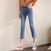 ALLK 刷白9分牛仔褲 淺藍色(尺寸27-31腰)