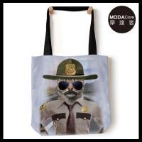摩達客(預購)美國The Mountain 警長貓 藝術環保托特包