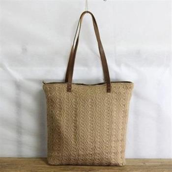 【米蘭精品】肩背包棉線側背包-日韓時尚休閒大容量女包包2色73sx35