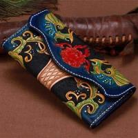 【米蘭精品】長夾手工真皮錢包-精美皮雕亮麗色澤男女皮夾73tf46