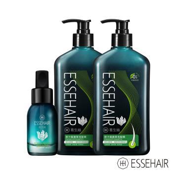ESSEHAIR 易生絲-原汁生眉草洗髮精x2+生眉草養髮精華