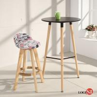 LOGIS邏爵 自然簡約北歐圓桌 高吧桌 高腳桌 餐桌 休憩桌 T55B