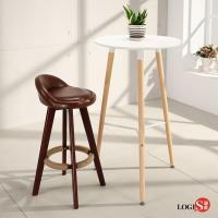 LOGIS邏爵 自然簡約北歐圓桌 高吧桌 高腳桌 餐桌 休憩桌 T55W