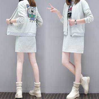 KW韓國.  XL~5XL 韓系時尚街頭塗鴉休閒套裝