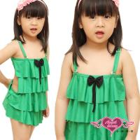 天使霓裳 蛋糕裙樣式 卡哇伊小童泳裝系列 (綠) QE201361