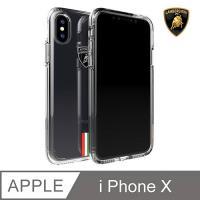 【Lamborghini藍寶堅尼 】iPhone X Gallardo系列軍規防摔殼(透明特仕版)