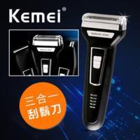 KEMEI 尊爵三合一修容電鬍刀 鼻毛刀/理髮/刮鬍刀 KM-6558