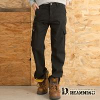 【Dreamming】型男素面多口袋休閒伸縮工作長褲(黑色)