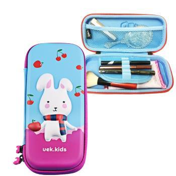DF Queenin - 韓國防水可愛動物硬式化妝盒/文具盒兩用-共4色