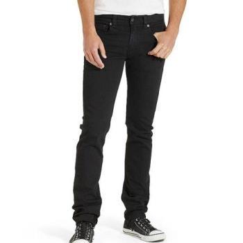 Levis 2018男時尚511黑色修身合體彈力牛仔褲