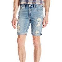 Levis 2018男時尚511淺藍色刷破身剪裁牛仔短褲