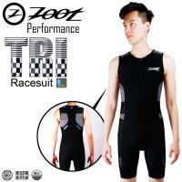 ZOOT 專業級 肌能連身鐵人服(格紋白/男款)