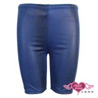 天使霓裳 夏X潮流 時尚蛇紋平口四角泳褲(藍M,L) SBX12
