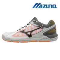 【MIZUNO 美津濃】WAVE SUPERSONIC 男 排球鞋 灰白 V1GA184054