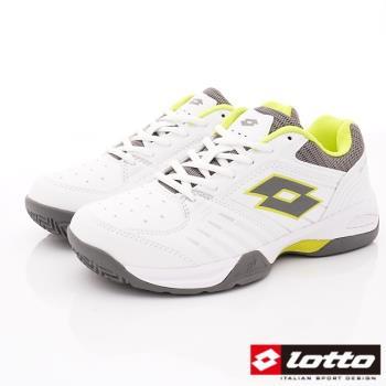 LOTTO樂得-全地形衝刺網球鞋-MT6805白螢光綠(男段)
