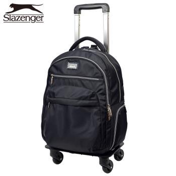 Slazenger 史萊辛格 16吋可拆式拉桿後背包(黑)