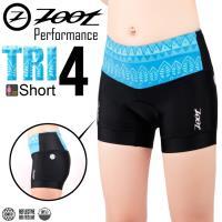 ZOOT 專業級 4吋肌能鐵人褲(圖紋藍/女款)