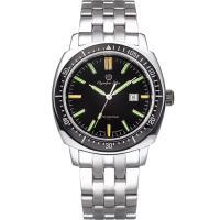 Olympia Star 奧林比亞之星-神盾系列氚氣石英腕錶-黑 98021TGS