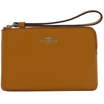 COACH 58032 馬車LOGO 防刮皮革零錢包/手拿包.橘子色