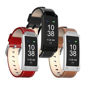 HO17 彩色螢幕皮革款運動藍牙智慧手環