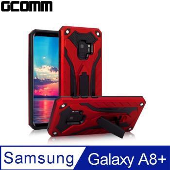 GCOMM Samsung Galaxy A8+ 防摔盔甲保護殼  紅盔甲 Solid Armour