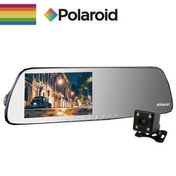 【Polaroid 寶麗萊】DS502GS 雙鏡頭後照鏡 型行車紀錄器 後鏡頭720P版(贈16G記憶卡)