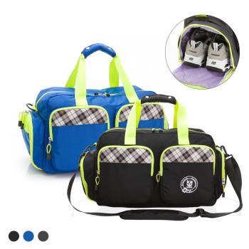【金安德森】跳躍時空 機能雙口袋手提中款旅行袋(3款任選均一價)