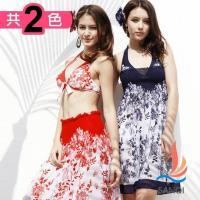 SANQI三奇 閃耀計劃 三件式鋼圈比基尼泳衣(共兩色M~XL) SQ13011