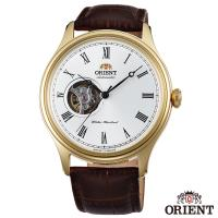 ORIENT東方錶 宏觀世界手動上鍊鏤空機械腕錶-白面金框x43mm FAG00002W0