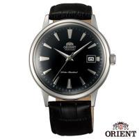 ORIENT東方錶  DATE II  圓滿時刻手動上鍊機械腕錶-黑面銀框x40.5mm  FAC00004B0