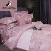 pippi  poppo 頂級銅氨絲緹花-柔情伊人 兩用被床包四件組 雙人標準5尺