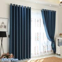 巴芙洛 亞麻/花捻麻打孔式遮光窗簾(一片式130x170cm)