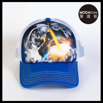 摩達客(預購)美國進口The Mountain 太空英雄貓  藝術棒球帽網帽/5-Panel新五分割帽