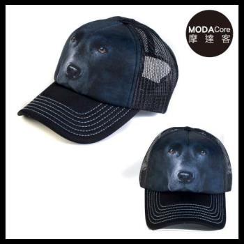 摩達客(預購)美國進口The Mountain 黑拉不拉多臉  藝術棒球帽網帽/5-Panel新五分割帽