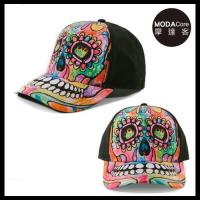 摩達客(預購)美國進口The Mountain 紐約藝術家DR系列  彩繪骷髏頭棒球帽/6-Panel六分割帽