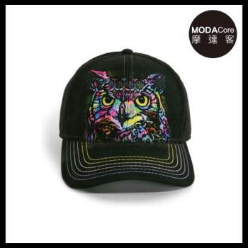 摩達客(預購)美國進口The Mountain 紐約藝術家DR系列  彩繪貓頭鷹 棒球帽/6-Panel六分割帽