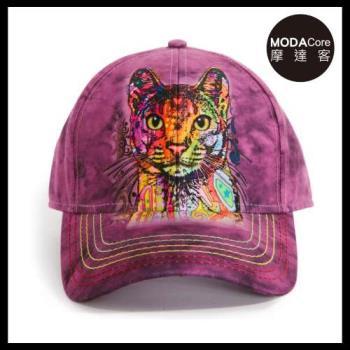 摩達客(預購)美國進口The Mountain 紐約藝術家DR系列 彩繪貓 棒球帽/6-Panel六分割帽