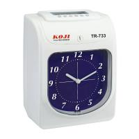 KOJI TR-733 六欄位 微電腦打卡鐘 指針式 雙輸出