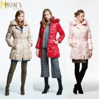 MONS北歐芬蘭國際櫃皮草羽絨大衣(3色可選)