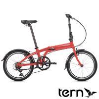 Tern 2019Link A7鋁合金20吋7速折疊單車-消光紅底白標