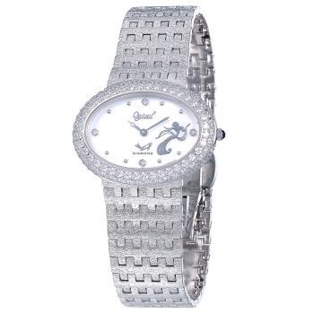 瑞士愛其華 Ogival-無窮動藝術百年紀念時尚真鑽腕錶(時尚銀、高雅金)309DLW 309DLR