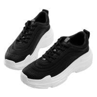 Robinlo 潮流指標異材質運動休閒鞋 DANE-黑色